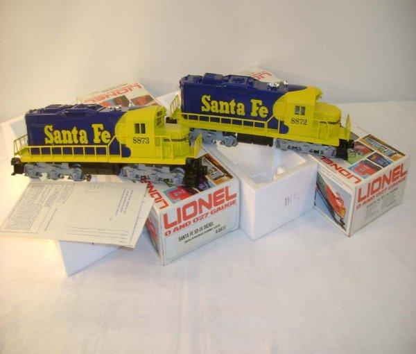 1306: ABT: Lionel #8872/8873 Santa Fe SD-18 Diesels/Obs