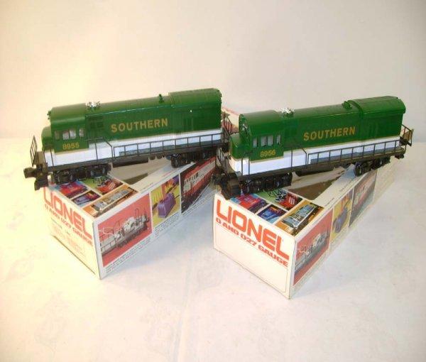 1311: ABT: Mint Lionel #8955/6 Southern U36B Diesels/Ob