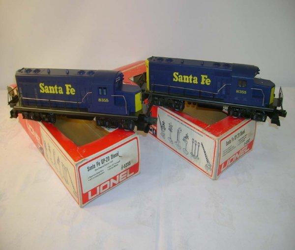 1312: ABT: Lionel #8352/8355 Santa Fe GP-20 Diesels/Obs