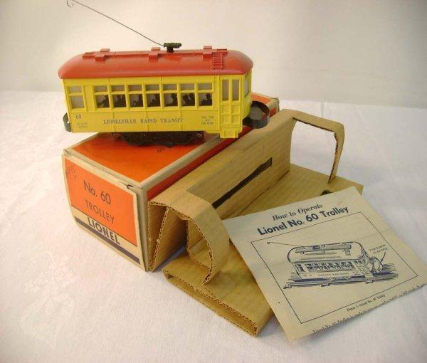 12: ABT: Lionel #60 Motorized Trolley/Brick Early OB+