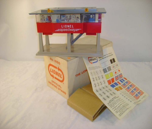 16: ABT: Mint Lionel #5160 Slot Cars Viewing Stand/OB+
