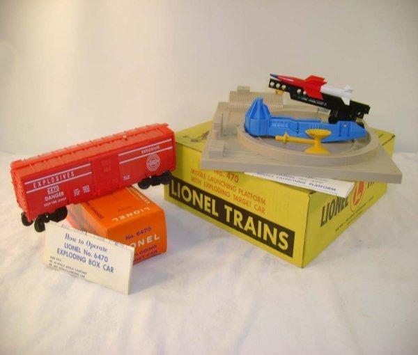 18: ABT: Mint Lionel #470 Missile Platform/Yellow OB+