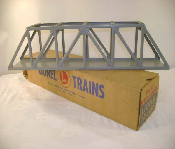246: ABT: Lionel #317 Dark Gray Trestle Bridge/Brick OB