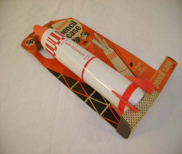 701: ABT: Rare Sterling Astronaut Pencil Case/6407 Disp