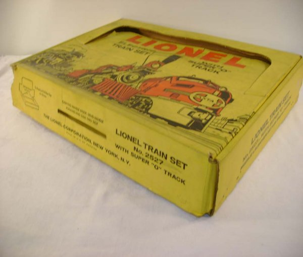702: ABT: Nice Lionel #2527 Yellow 1959 Space Set Box
