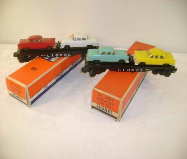 709: ABT: 2 Lionel #6424 Flats w/Automobiles/Obs