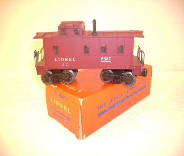 711: ABT: Lionel #6357 Caboose w/Plastic Trucks/ 59 OB