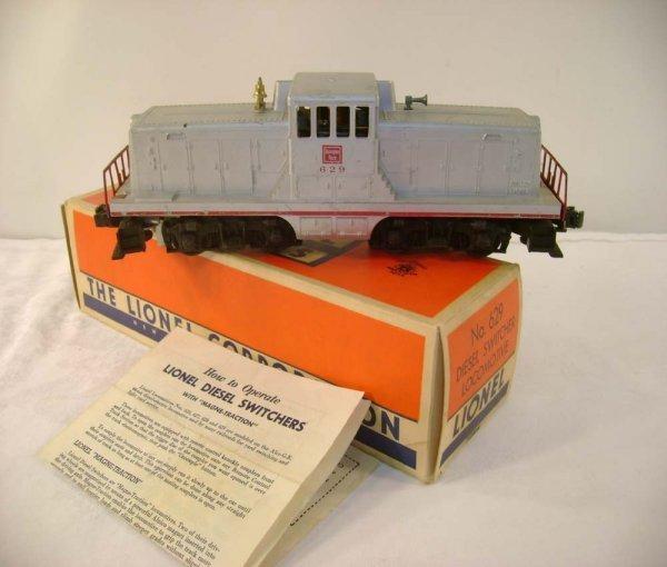 715: ABT: Lionel #629 Silver Burlington Switcher/Brick