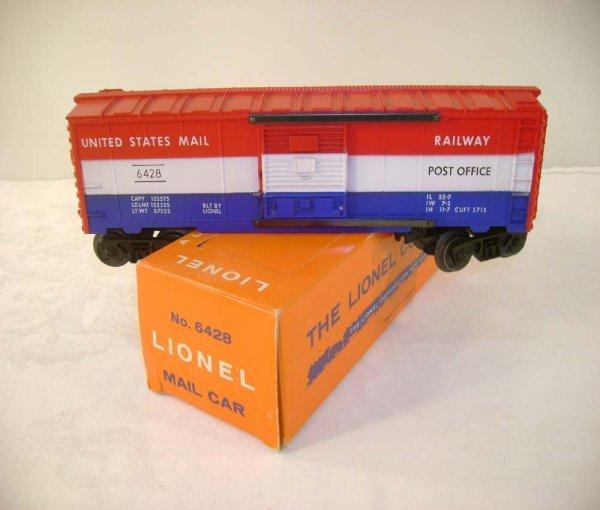 717: ABT: Lionel #6428 US Mail Box Car/Brick Perf Box