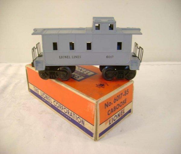 723: ABT: Lionel #6017-85 Gray LL Caboose/58B Box