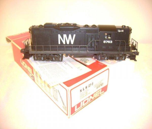 9: ABT: Mint Lionel #8763 N&W GP-9 Diesel/OB
