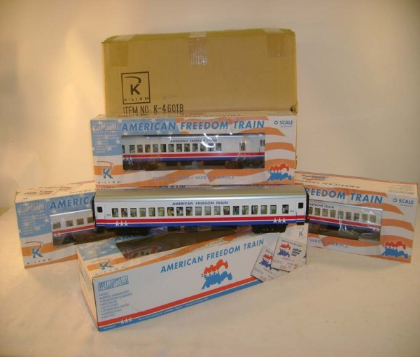 14: ABT: 4 Piece K-Line American Freedom Train/Obs