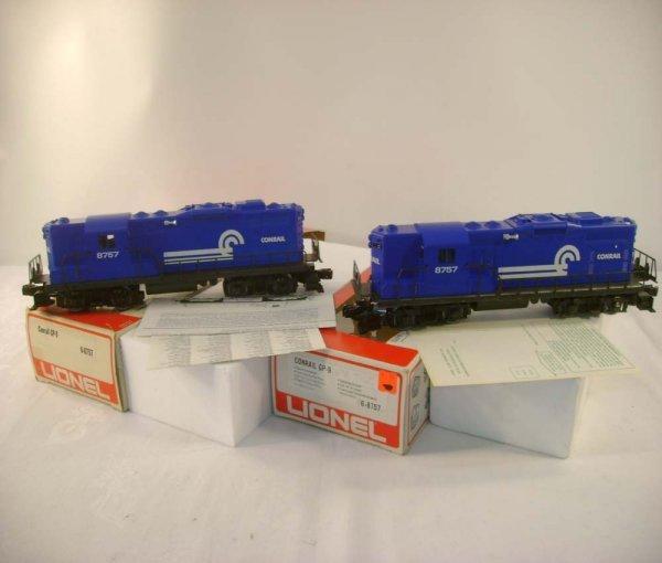 22: ABT: 2 Mint Lionel #8757 Conrail GP-9 Diesels/Obs