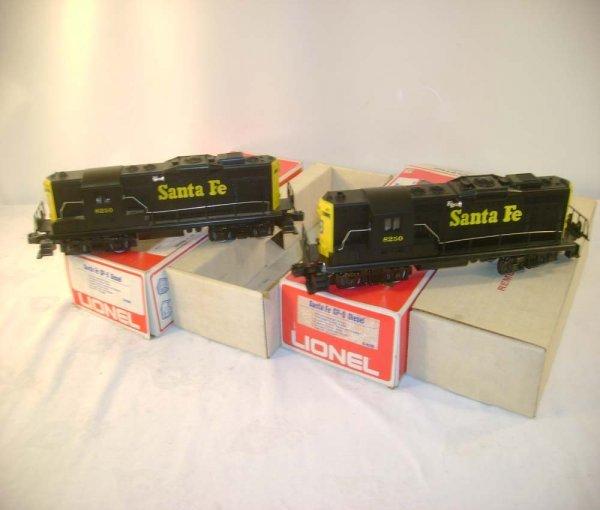 24: ABT: 2 Lionel #8250 Santa Fe GP-9 Diesels/Obs