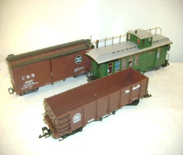 258: ABT: 3 LGB Colorado & Southern Freight Cars