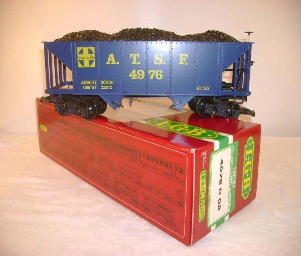263: ABT: LGB #4076 D02 Blue ATSF Coal HopperOB