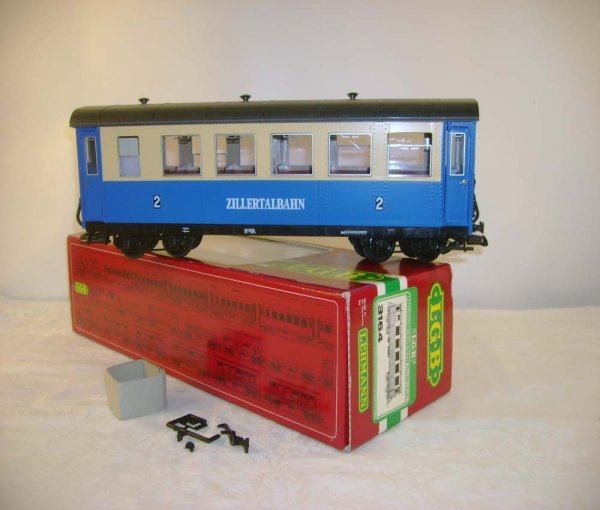 264: ABT: LGB #3164 Zillertalbahn Blue/Cream Coach/OB