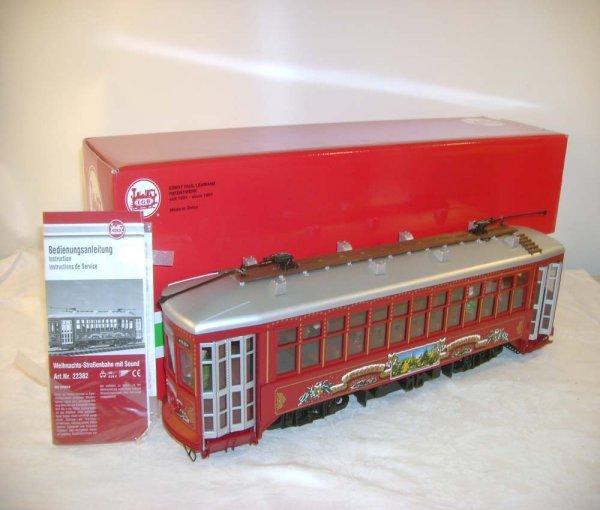 270: ABT: LGB #22382 Red Holiday Long Trolley/OB