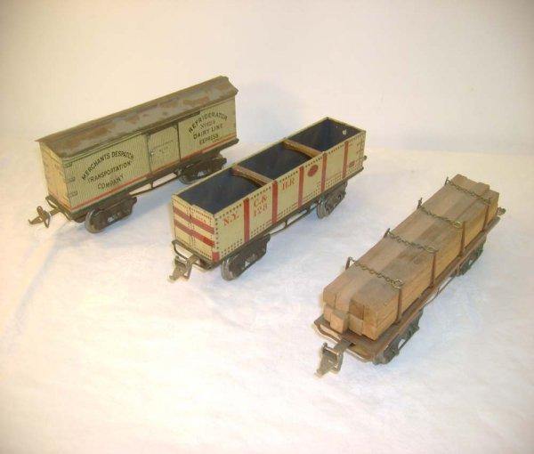 1033: ABT: Nice Set of 3 Ives O Gauge Freights: #128 Go