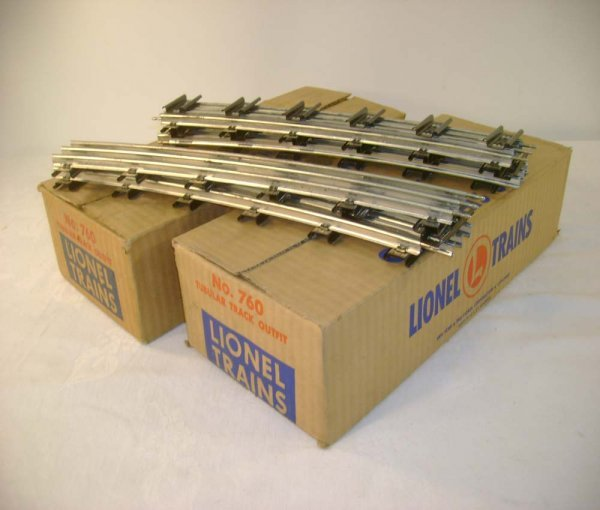 604: ABT: 2 Lionel #760 Boxes of 072 Curve Track/ Obs