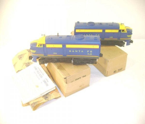 605: ABT: Lionel #208P/T SF Alco AA Diesels/Brick Obs