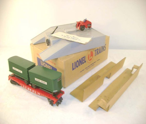 606: ABT: Mint Lionel #460 Piggy Back Set/Brick OB+
