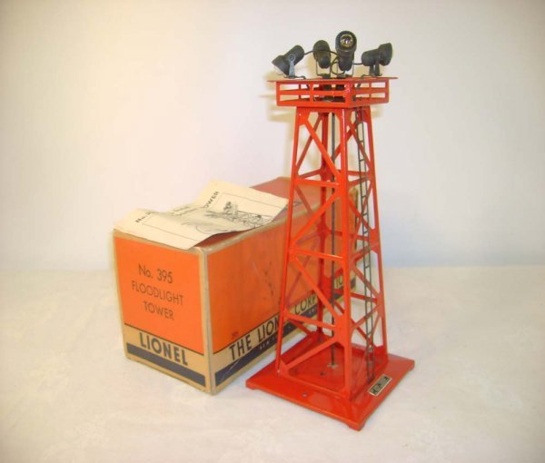 608: ABT: Rare Lionel #395 Red Floodlight Tower/Nice OB