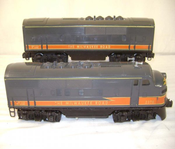 620: ABT: Lionel #2378 MR F-3 AB Diesels/Pinstripes