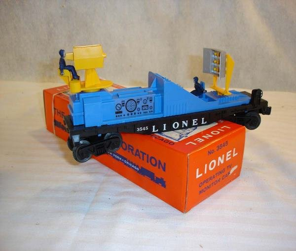 6: ABT:Mint Lionel #3545 TV Operating Car/Brick OB