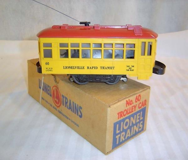 16: ABT:Lionel #60 Black Letter Motorized Trolley/Late