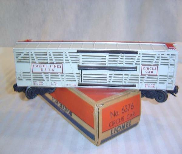 17: ABT:Lionel #6376 Lionel Lines Circus Car/Nice OB