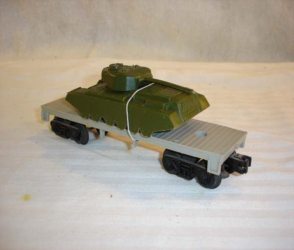 18: ABT:Scarce Lionel #6401 Flat Car with Green Tank