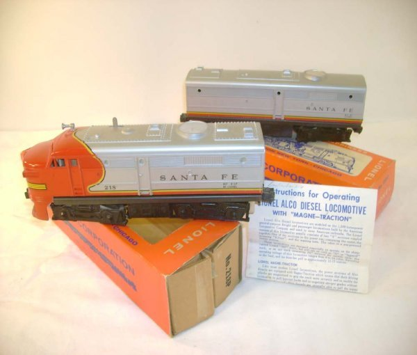 5: ABT: Lionel #218 Santa Fe Alco AB Diesels/Obs