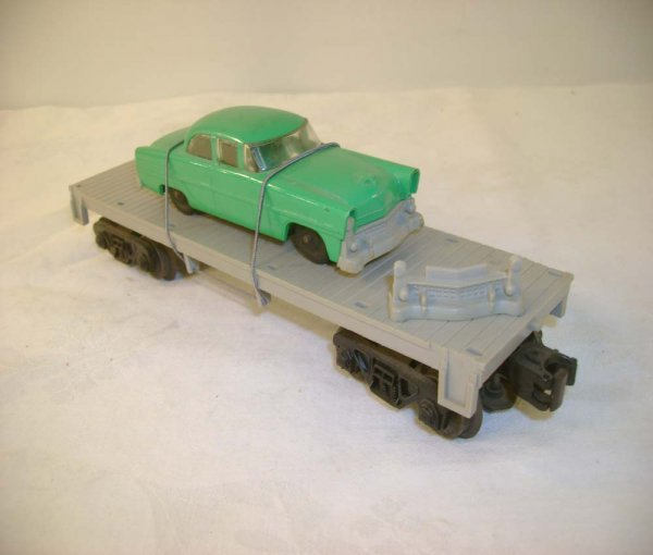 6: ABT: Lionel #6406 Flat with Green/Gray Auto