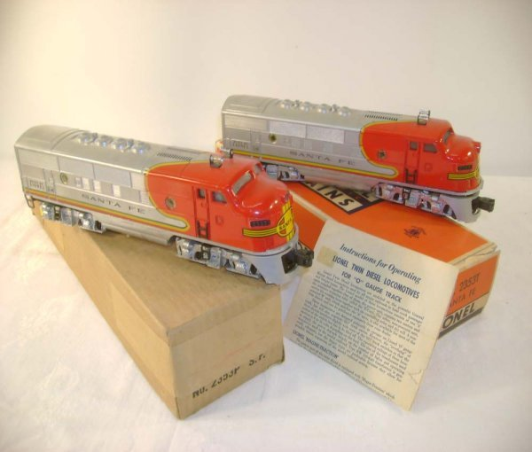 50: ABT: Lionel #2353 SF F-3 AA Diesels/OBs+