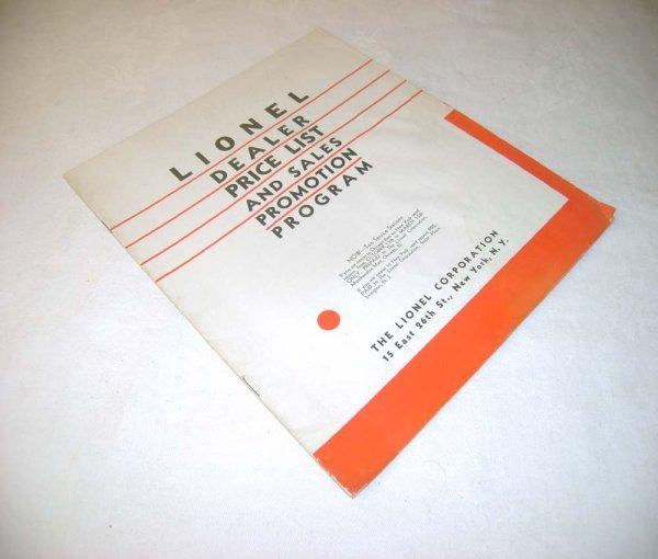 281: ABT: 1932 Lionel Dealer Price List/ Sales Promotio