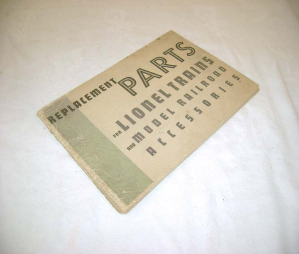 287: ABT: Scarce Lionel 1935 Replacement Parts Catalog