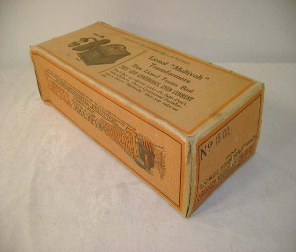 291: ABT: Scarce Lionel #15 Oil Car Original Box