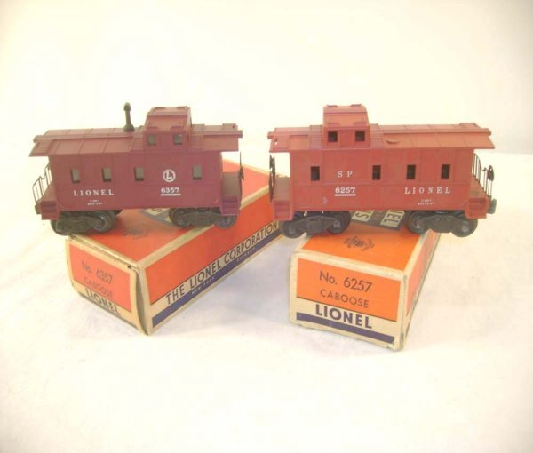 1254: ABT: Lionel #6257 & #6357 SP-Type Cabooses/OBs