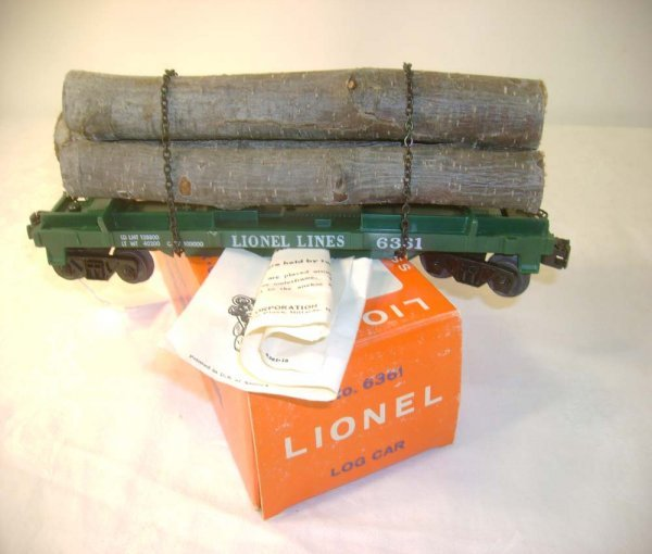 1266: ABT: Great Lionel #6361 Timber Car/ Pix OB