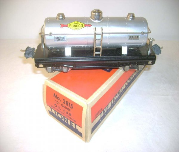 295A: ABT: Mint Lionel #2815 Silver Sunoco Tank Car/ OB