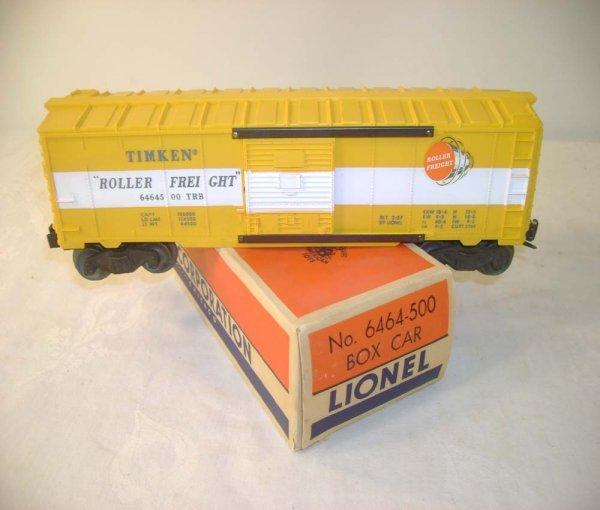 303A: ABT: Lionel #6464-500 TimkenType IIB Box Car/OB