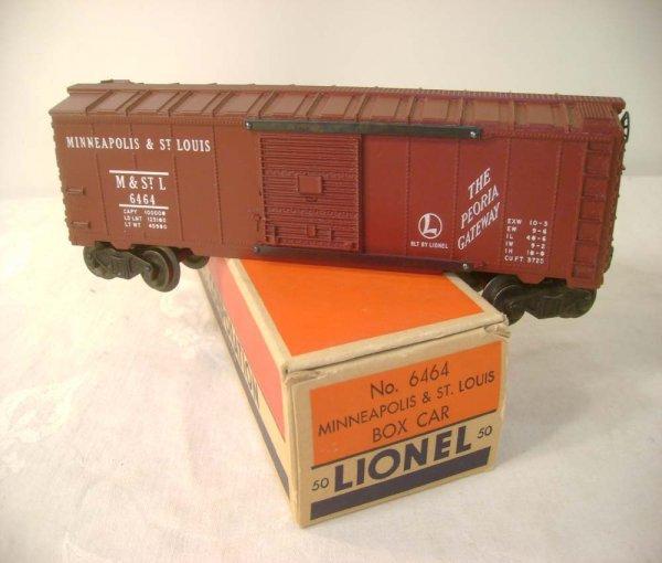 313A: ABT: Lionel #6464-50 Tuscan M&SL Box Car/OB