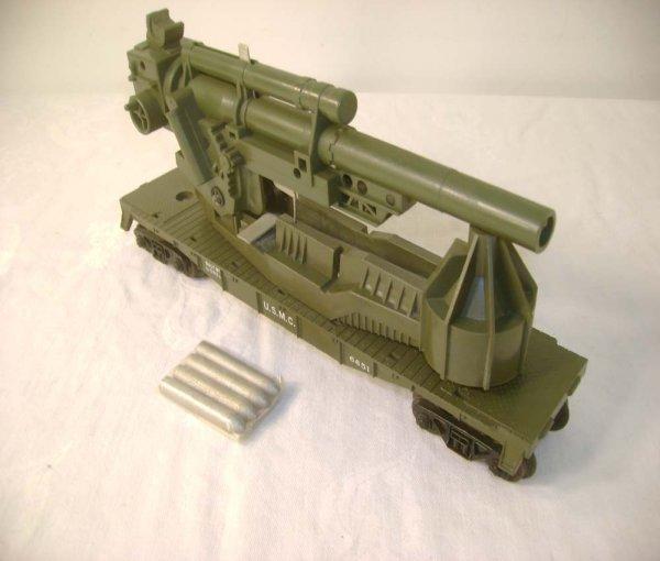 447A: ABT: Lionel #6651 Big Bertha USMC Car w/Shells