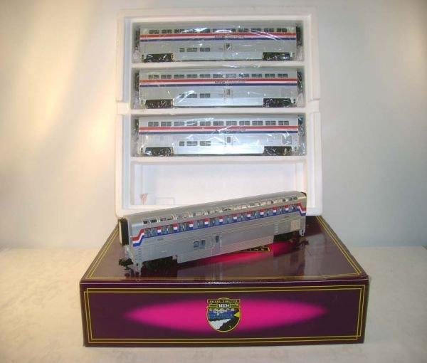 382: ABT: Mint MTH #20-6524 Amtrak 4-pack of Superliner