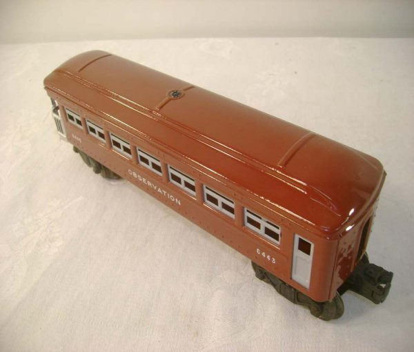 602: ABT: Mint Lionel #6443 Brown Tinplate Observation