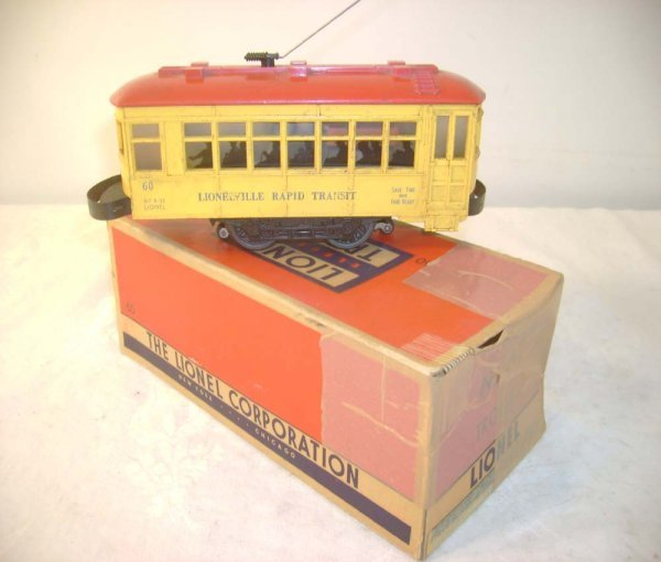 604: ABT: Lionel #60 Motorized Trolley/Blue Lettering/O