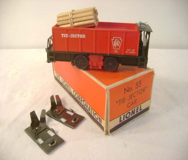 607: ABT: Great Lionel #55 Operating Tie-Jector Unit/OB