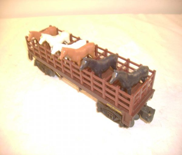 608: ABT: Lionel #1877 General Flat Car with Horses