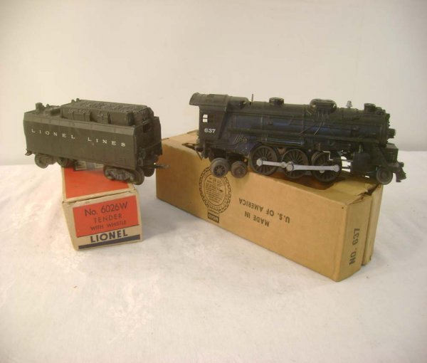 615: ABT: Lionel #637 Steam & #6026W Tender/OBs